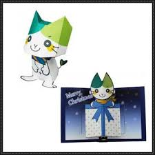 yamamyi paper toy and christmas pop up greeting card free