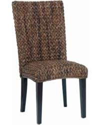 Woven Dining Chair Deal Alert Contemporary High Back Woven Dining Chair Brown