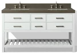 Elizabeth  Bath Vanity Set Kaffee Quartz Countertop - Bathroom vanities with quartz countertops