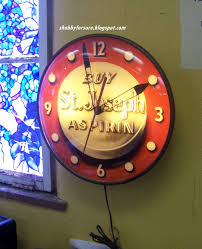 shabby for sure advertising clock for sale