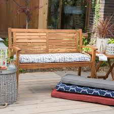 Suncast 50 Gallon Patio Bench by Coral Coast Classic 45 X 18 In Outdoor Cushion For Benches And