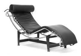 Leather Chaise Lounge Chair Baxton Studio Le Corbusier Chaise Lounge Chair Sharper Image