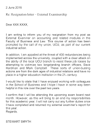 external examiner resignation letter u2013 stand strong together