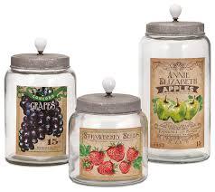 bailey lidded glass jars set of 3 farmhouse decorative jars