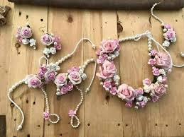 flower jewellery artificial flower jewellery 3 dimensional flower jewelery real
