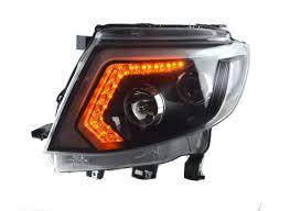 set head lamp lights led ccfl black fit ford ranger t6 wildtrak