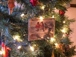 tree decorations and cards in vintage style
