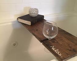 Wine Glass Holder For Bathtub Bath Caddy Etsy