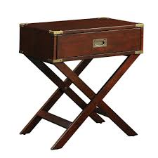 amazon com inspire q kenton x base wood accent table espresso