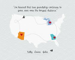 wedding quotes about family distance friendship map family quote map