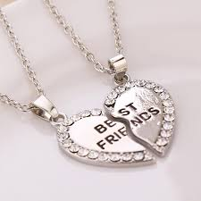 gold best friends necklace images Best friends necklace 2 parts charming splice broken heart letter jpg