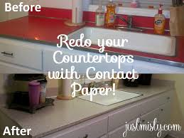 contact paper to cover and redo countertops