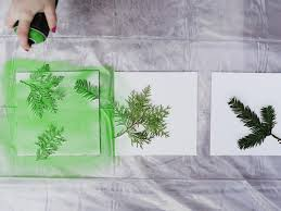 Spray Paint House Walls Turn Leaves And Foliage Into Diy Canvas Wall Art Hgtv