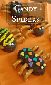 candy spiders that will march right through your halloween party