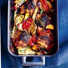 Roasted Vegetables Recipe by Mustard Chicken With Roasted Vegetables Woman And Home