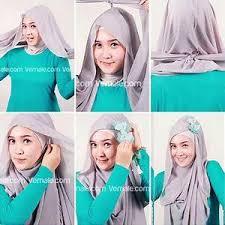 tutorial hijab paris ke pesta kreasi jilbab utk pesta cara memakai jilbab kreasi paris untuk ke