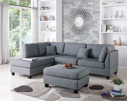 plush sectional sofas amazon com modern contemporary polyfiber fabric sectional sofa