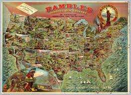 United States Map Games by Rambles Through Our Country David Rumsey Historical Map Collection