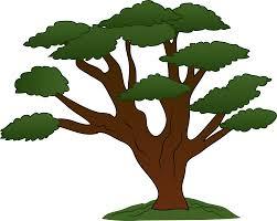 sweeping oak tree design free clip