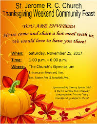 upcoming events thanksgiving weekend community feast st jerome