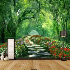 aliexpress com buy nature tree 3d landscape mural photo