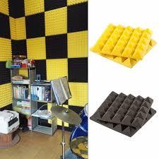 insonoriser une chambre 1 pcs mousse d insonorisation acoustique panneaux foamtreatment