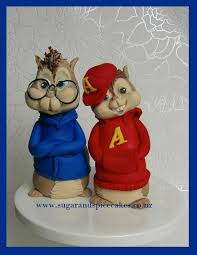 alvin and the chipmunks cake toppers awesome alvin and the chipmunks cake topper between the pages
