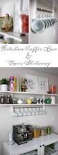 kitchen coffee bar and open shelving u2026 u2013 less than average height