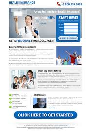 fully customizable converting life insurance landing page design