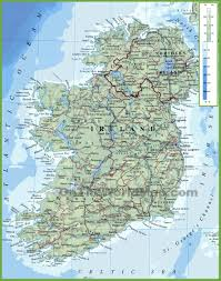 Us And Canada Physical Map by Ireland Maps Maps Of Republic Of Ireland