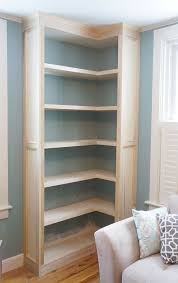 Build A Wood Shelving Unit by Best 25 Corner Bookshelves Ideas On Pinterest Building