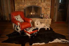 Cowhide Chairs And Ottomans Fireside Leather U0026 Cowhide Chair With Ottoman U2013 Yee Haw Ranch