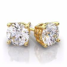 diamond ear studs diamond earring studs in 14kt yellow usajewelrylv