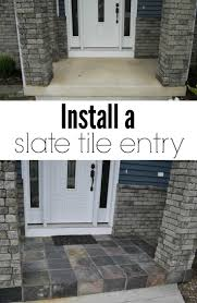Snap Together Slate Patio Tiles by Slate Tile Porch Slate Tiles Curb Appeal And Slate