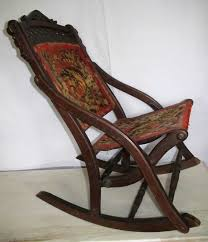 Antique Spindle Rocking Chair Antiques Gifts Nice Antique Victorian Eastlake Folding Carpet
