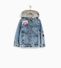 zara kids denim jacket with hood and patches kaydens