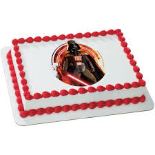 wars edible cake toppers wars darth vader quarter sheet edible cake topper party