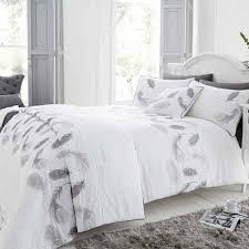 fluttering feathers silver duvet cover bedroom pinterest