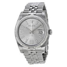 silver rolex bracelet images Rolex oyster perpetual 36 mm silver dial stainless steel jubilee jpg