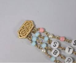 Baby Name Bracelets Gold Mother U0027s Baby Name Bracelet 14k Sara Steven Brian Elizabeth