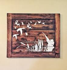 Duck Home Decor Duck Wood Sign Hunters Home Decor