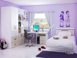 Single Girls Bed by Stunning Calm In Purple Bedroom Design Nuance Presenting