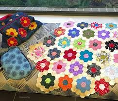 threading my way grandmother u0027s flower garden quilt it u0027s happening