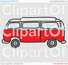 volkswagen hippie van clipart royalty free rf clipart illustration of a red camper van by