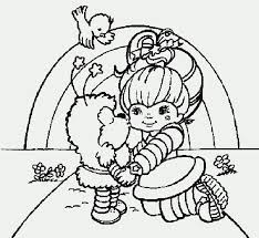 coloring pages rainbow brite kids coloring