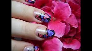 pink u0026 purple hearts nail design my 2nd entry to dollface22772s