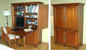 Home Office Desk Armoire Office Armoire Deluxe 2 Computer Center Desk Armoire Pottery Barn