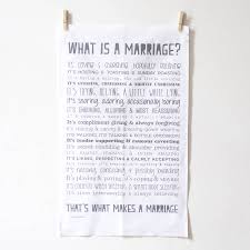 whats a wedding present marriage tea towel anniversary or wedding present by bespoke verse