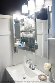 Medicine Cabinets For Bathroom by Remodelaholic How To Install A Recessed Medicine Cabinet