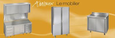 meuble cuisine inox aminox fabrication d équipements mobilier inox pour l alimentaire